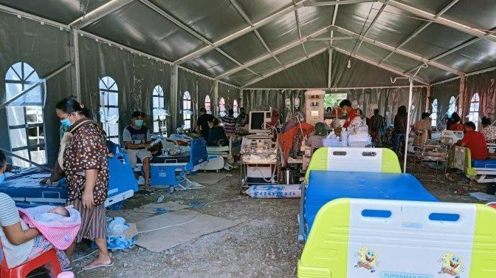 Pelayanan Kesehatan RSU Regional Sulbar Masih Dipusatkan di Tenda Darurat