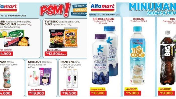 Terbaru Katalog Promo Alfamart 18 September 2021, Cemilan & Minuman Murah, Tebus Minyak Goreng
