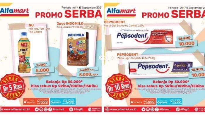 Katalog Promo Alfamart Terbaru Selasa 7 September 2021, Serba Rp5000 2 Indomilk dan SilverQueen