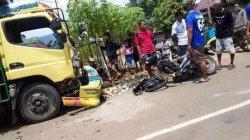BREAKING NEWS: Tabrakan Motor vs Truk di Towuti Luwu Timur, Pasutri Dikabarkan Tewas