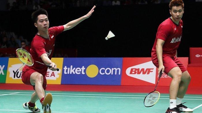 Live Streaming TV Online Badminton Olimpiade: Tunggal Putri Kalah, Marcus Gideon/Kevin Sanjaya Main