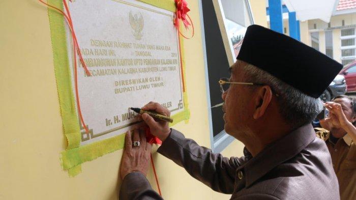 Resmikan UPTD Pengairan Kalaena Kiri,  Husler Singgung IPM Luwu Timur
