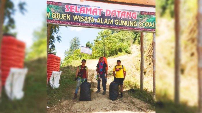 Jalur Pendakian Gunung Sopai Toraja Utara Dipenuhi Sampah