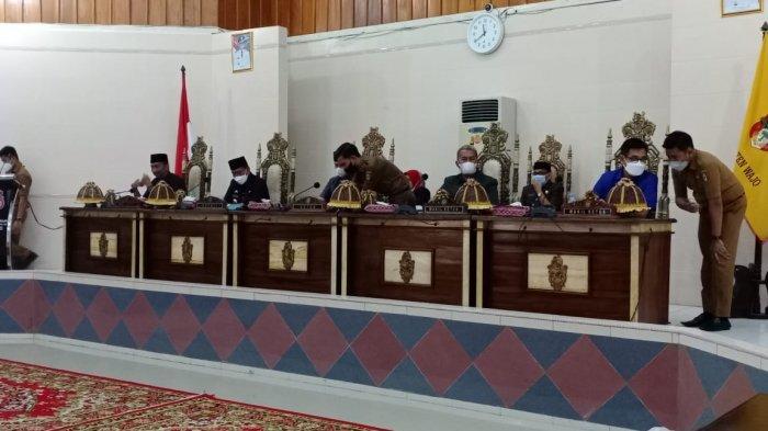 Tiga rancangan peraturan daerah (Ranperda) diserahkan Bupati Wajo, Amran Mahmud ke DPRD Wajo, Selasa (8/6/2021).