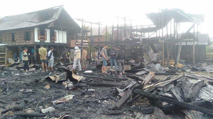 Kebakaran di Sidrap Hanguskan 3 Rumah, 1 Motor dan Seekor Sapi