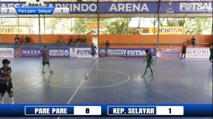 Taklukkan Selayar 8-1, Tim Futsal Parepare Berpeluang Lolos ke Porprov Sulsel