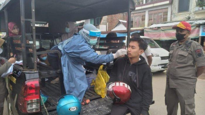Tak Pakai Masker di Pasar Malili Luwu Timur Langsung Dirapid Tes, 1 Dinyatakan Positif