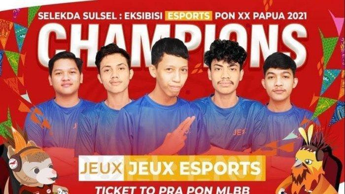 Tim Jeux Wakili Sulsel di Pra PON XX Papua Cabang Esports Mobile Legends