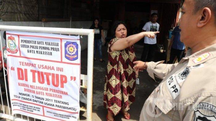 FOTO: Satpol PP Makassar Tutup 3 Panti Pijat di Mallengkeri - tim-penegakanae.jpg