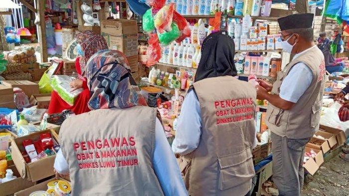Operasi di Pasar Lambarese Luwu Timur, Petugas Temukan Makanan Kadaluarsa dan Kosmetik Berbahaya