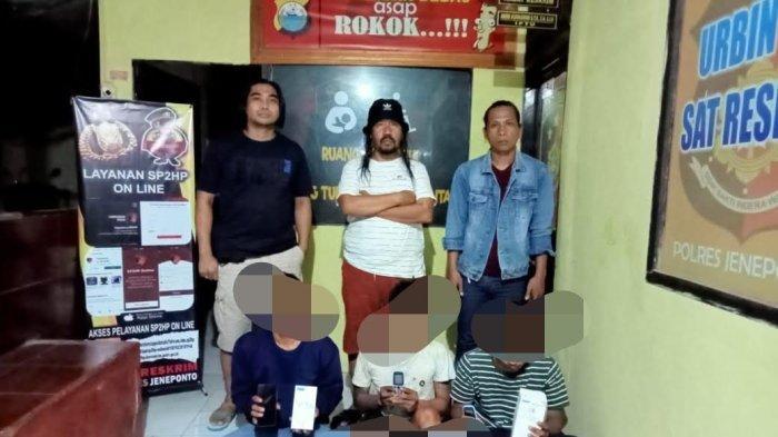 Curi Ponsel, Tiga Pemuda Bantaeng Ditangkap di Jeneponto