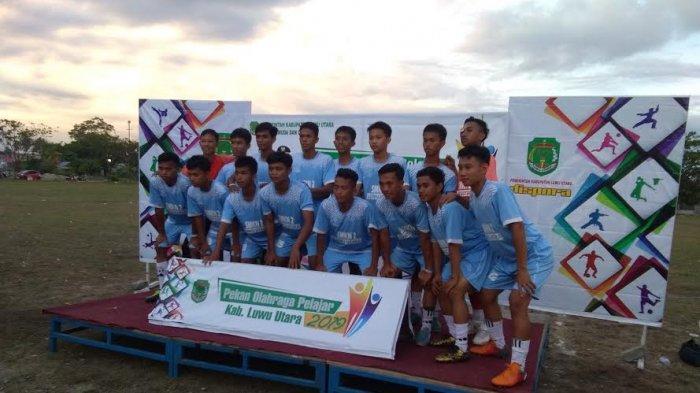 SMKN 2 Luwu Utara Juara Cabor Sepakbola Pekan Olahraga Pelajar