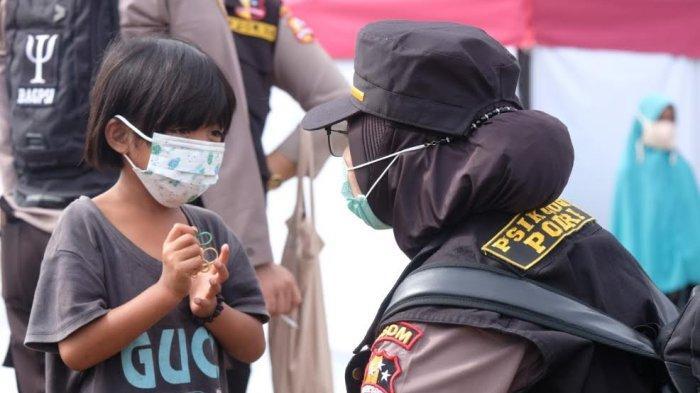 Pulihkan Psikis Korban Gempa, Polda Sulbar dan SSDM Polri Lakukan Trauma Healing di Pengungsian