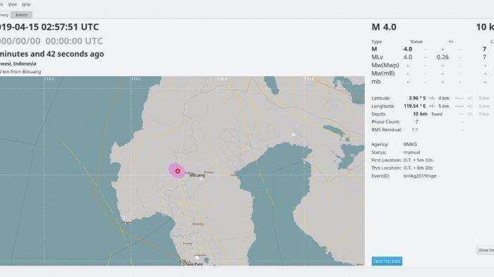 Gempa Kembali Mengguncang Wilayah Kabupaten Mamasa