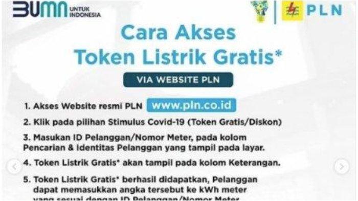 Cara Klaim Token Listrik Gratis PLN Januari 2021 di stimulus.pln.co.id dan WhatsApp 08122123123