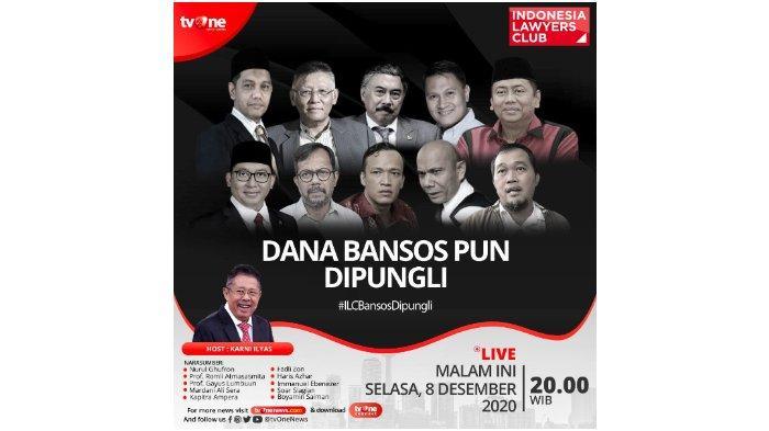 Serunya Topik / Judul ILC TV One Malam Ini 'Dana Bansos Pun Dipungli', Narasumber dan Live Streaming
