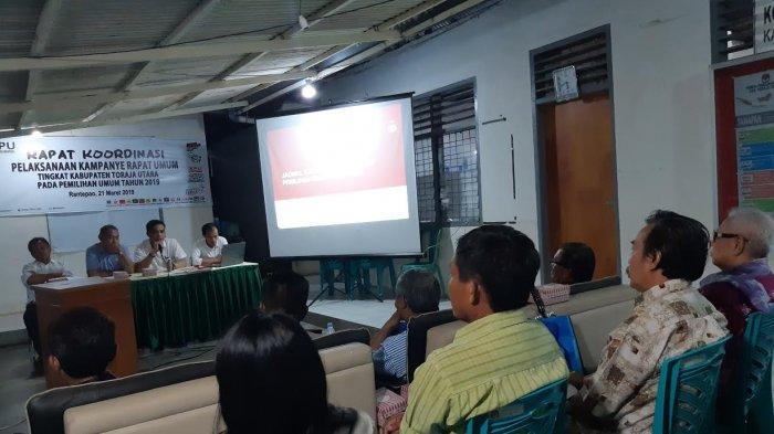 KPU Toraja Utara Rakor Pelaksanaan Kampanye Rapat Umum