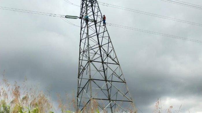PLN Respon Cepat Pelihara Tower Miring penghubung Sulbar-Sulteng