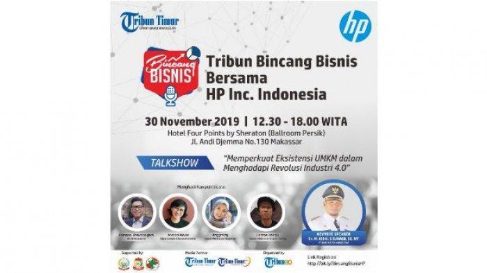 Gratis, Tribun Bincang Bisnis Bersama HP Inc. Indonesia Berhadiah Voucher Hotel dan Printer
