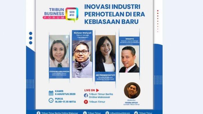 Tribun Business Forum Sore ini, Bahas Inovasi Industri Perhotelan di Era Kebiasaan Baru