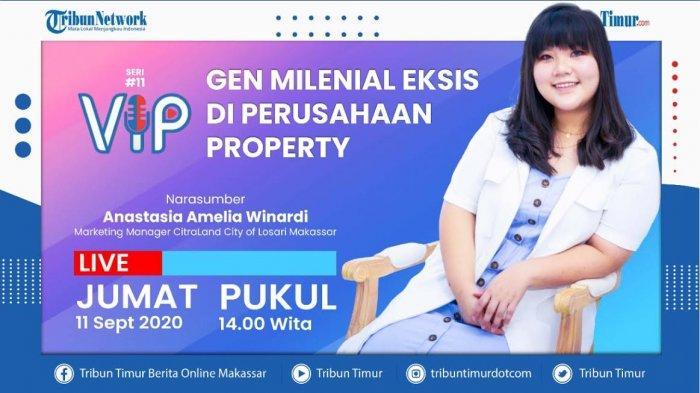 Saksikan Tribun VIP Siang Ini, Hadirkan Anastasia Amelia Winardi, Gen Milenial di Ciputra