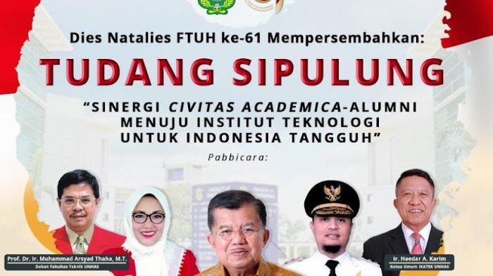 Ketua IKA, Jusuf Kalla Dukung Penuh Fakultas Teknik Unhas Jadi Institut