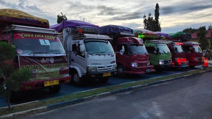 Polda Sumut Salurkan Bantuan 7 Truk untuk Korban Gempa Sulbar