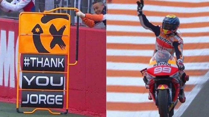 Ucapan Terima Kasih Repsol Honda kepada Jorge Lorenzo di Balapan Terakhir MotoGP Valencia 2019