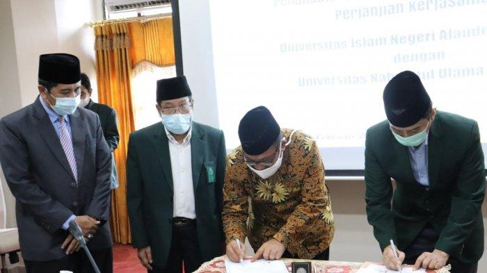 UIN Alauddin dan UNU Gorontalo Teken Kerja Sama Program Pascasarjana