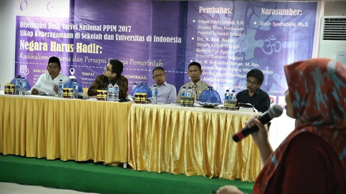 PPIM UIN Syarif Hidayatullah Jakarta Rilis Hasil Survei Keberagaman di Makassar