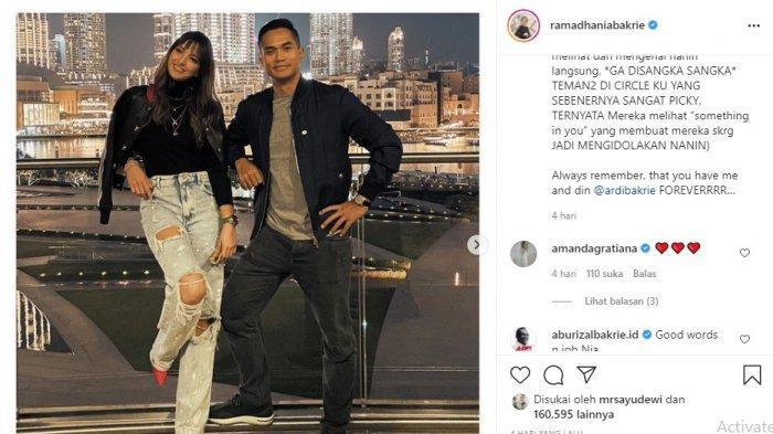 Unggahan terbaru Nia Ramadhani istri Ardy Bakrie di instagram