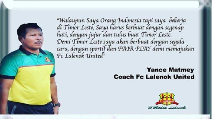 Jelang Lawan PSM, Pelatih Lalenok United Bertekad Majukan Sepak Bola Timor Leste