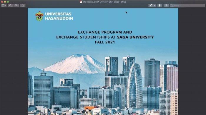 Unhas Sosialisasi Program Pertukaran Mahasiswa di Universitas Saga Jepang