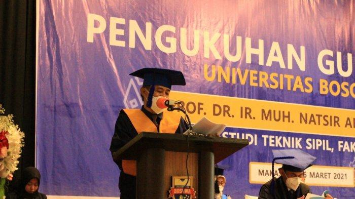 Unibos Kukuhkan Muhammad Natsir Abduh Guru Besar Teknik Sipil