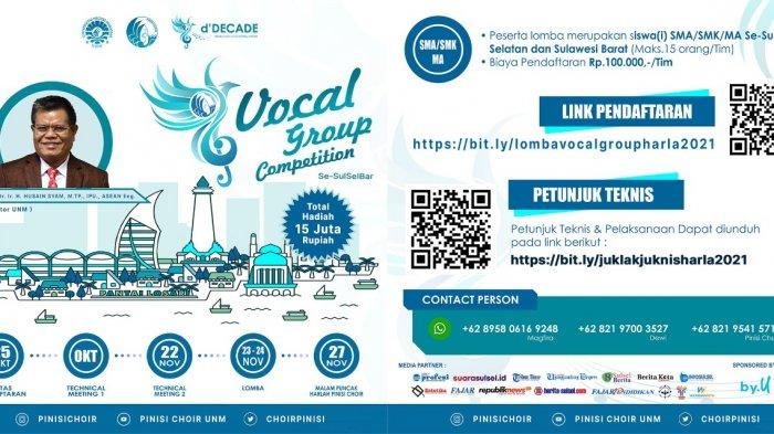 Vocal Group Competition Pinisi Choir UNM Berhadiah Rp 15 Juta