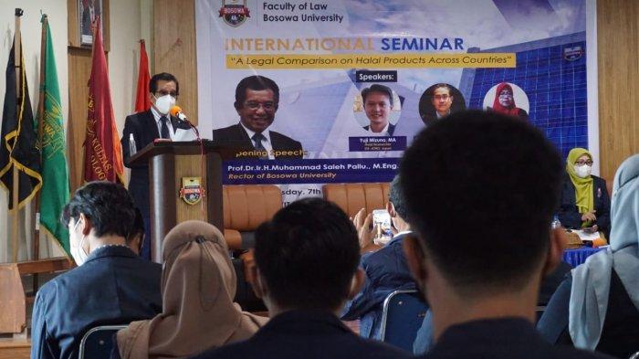 Seminar Internasional Unibos Bahas Sertifikasi Halal Produk Luar Negeri