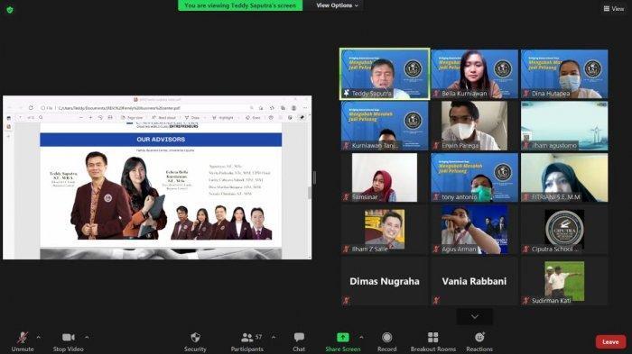 Universitas Ciputra School of Business Makassar Gelar Webinar via Zoo, Bahas Bisnis Keluarga
