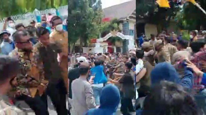Unjuk Rasa Ricuh Setelah Bupati Bulukumba Tendang Ban, Aktivis PMII Justru Polisikan Satpol PP