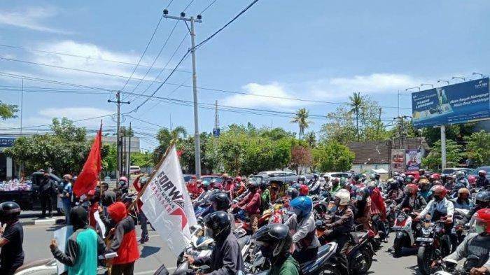 Aksi Demo Peringatan Hari Tani Nasional, Jalan Urip Sumoharjo Makassar Macet