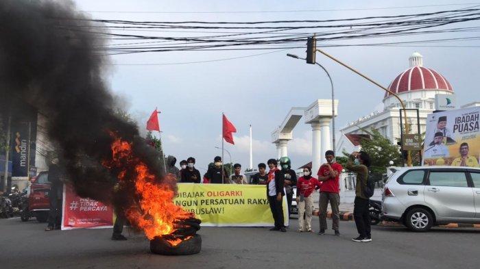 Demo Hari Buruh, LMND Palopo Minta UU Cipta Kerja Dicabut