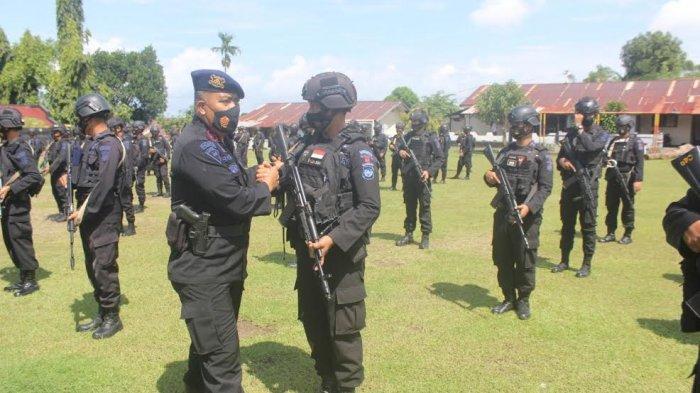 Satu Kompi Brimob Parepare Ditugaskan Pengamanan di Papua