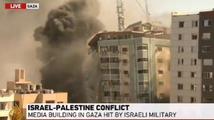 Israel Tak Gentar Ancaman Turki & Rusia, Kembali Serang Gaza Target Kantor Media Aljazeera/AP Hancur