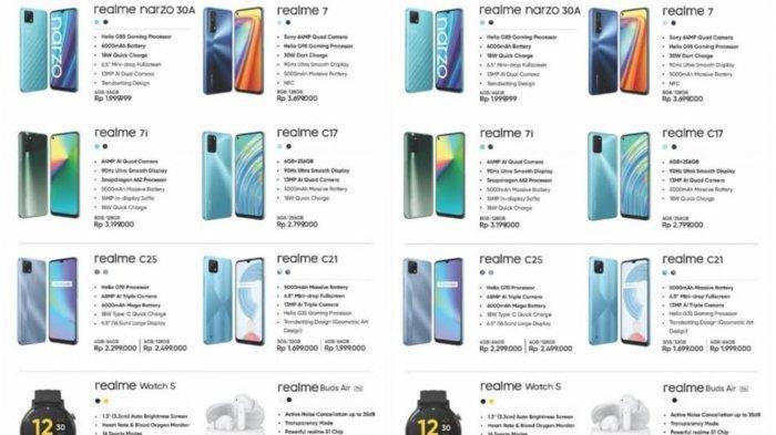 UPDATE Harga Terbaru HP Realme Mei 2021 Mulai Rp1 Jutaan, Narzo 30A, Realme 7, C17, C15 Spesifikasi
