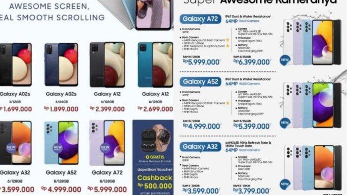 UPDATE Harga Terbaru HP Samsung Akhir Juni 2021, Samsung a72, A52 dan A31 Mulai Rp 3 Jutaan