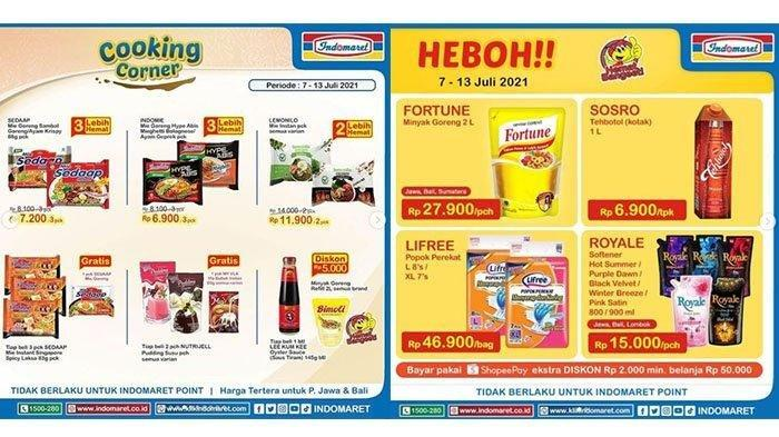 KATALOG Promo Indomaret Jumat 9 Juli 2021: Belanja Super Hemat Minuman Snack hingga Kao Attack