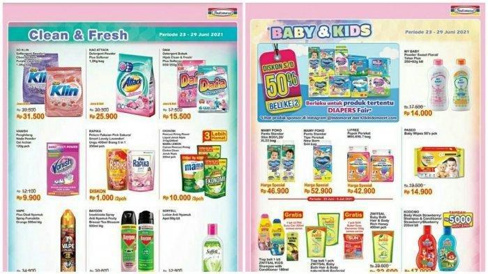 KATALOG Promo Indomaret Rabu 23 Juni 2021: Beli Susu Gratis Minyak Goreng, Kebutuhan Bayi Diskon 50%