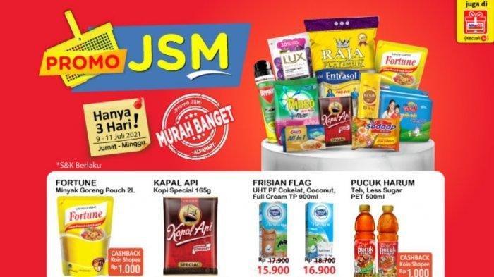 KATALOG Promo JSM Alfamart Jumat 9 Juli 2021: Minyak Goreng 2 L dan Beras Harga Spesial,Shampo Murah