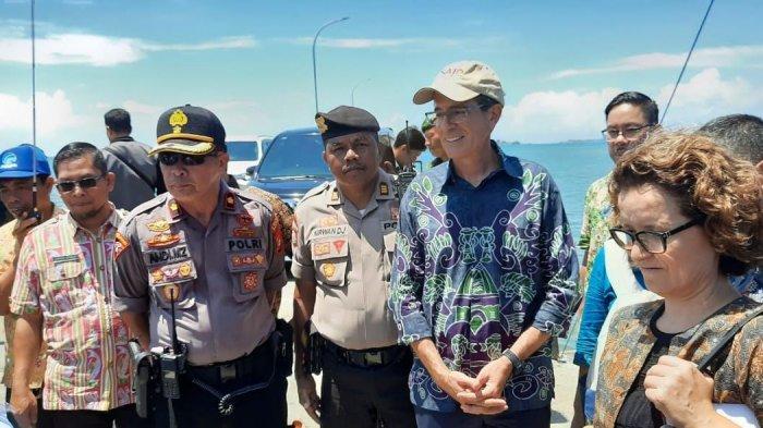 USAID Kunjungi Pulau Sabutung Pangkep, Kabag Ops Pimpin Pengamanan