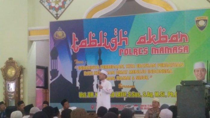 Ustad Das'ad Latif Bahas Keamanan Pemilu di Tablig Akbar Polres Mamasa