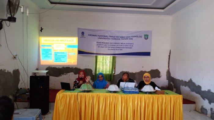 Dosen UT MAKASSAR Gelar Abdimas Nasional Penyuluhan Budidaya Rumput Laut di Desa Pitue